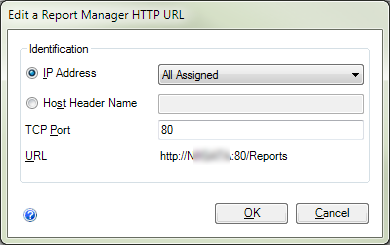 Edit HTTP Filter for Reporting Service