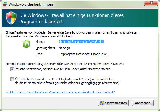 nodejs firewall